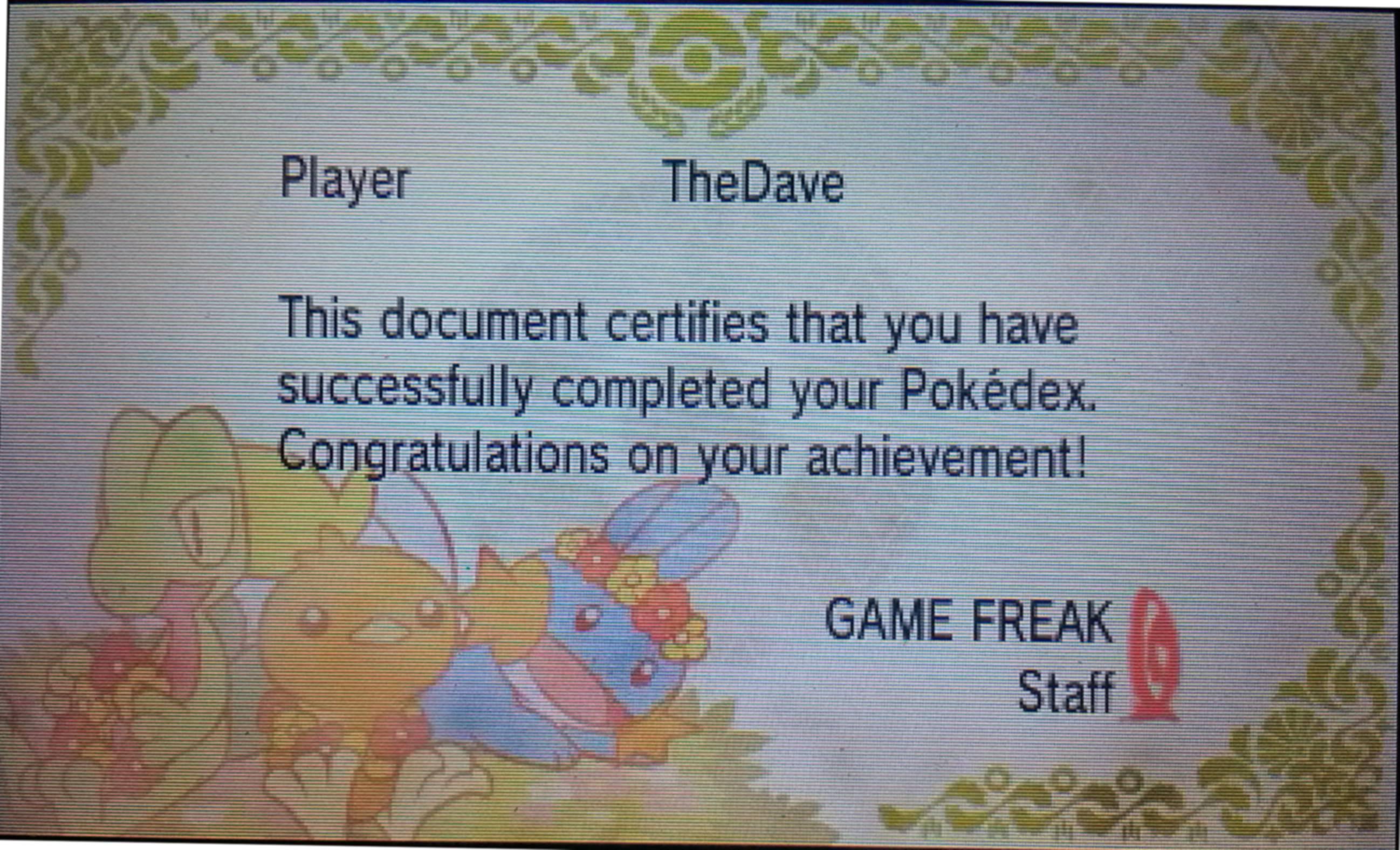 Pokemon Emerald Pokedex