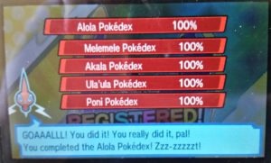 Complete Alola Pokedex